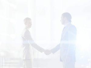 ContactPage business men shaking hands