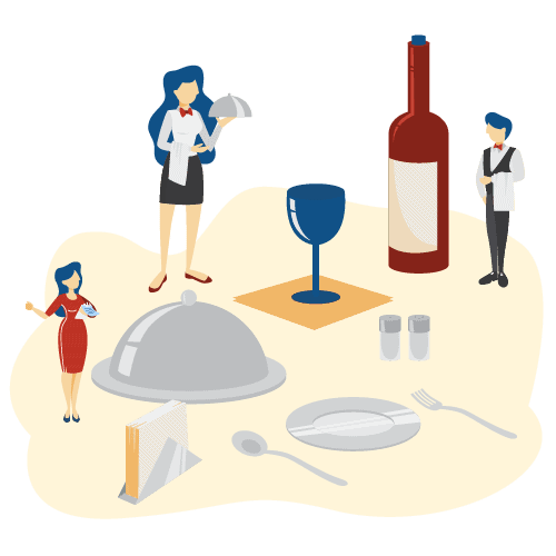 500x500 illustrations Hospitality