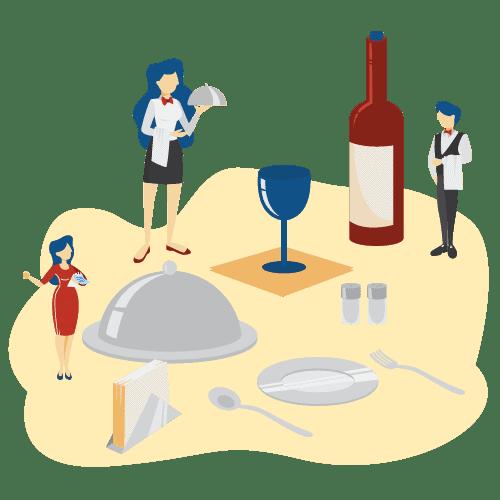 500x500 illustrations Hospitality